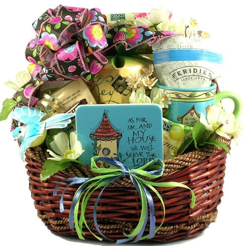 Gifts gift ideas home decor for the entire catholic christian he has risen gourmet christian easter gift basket negle Gallery